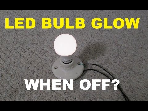 Why some LED bulbs glow or flash when turned off