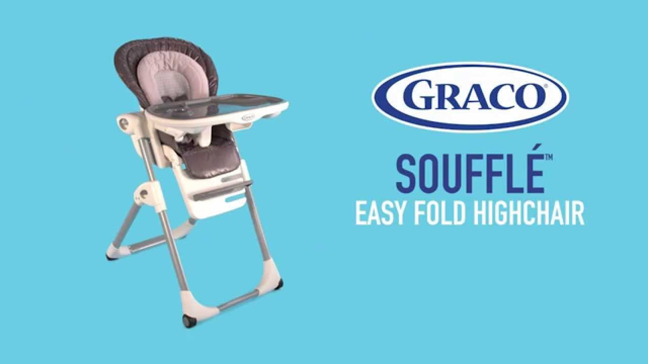 Mealtimes Just Got Easier With Graco S Soufflé The Highchair An Easy Two Step Fold