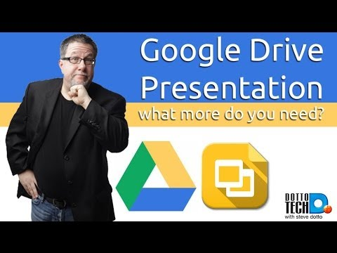 using the google drive presentation app youtube