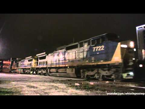 Trains in Lightning Storm