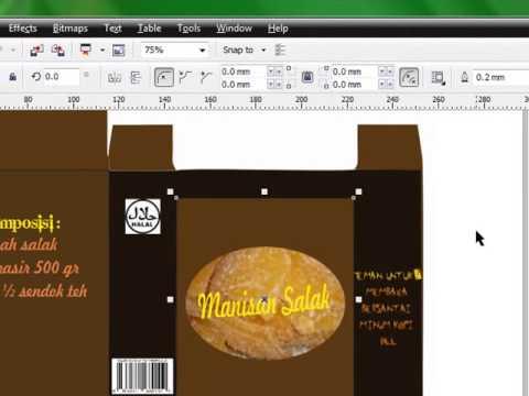 Cara Membuat Desain Packaging Manisan Salak Dengan Corel ...