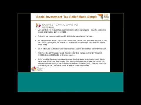 Webinar: Social Investment Tax Relief Made Simple