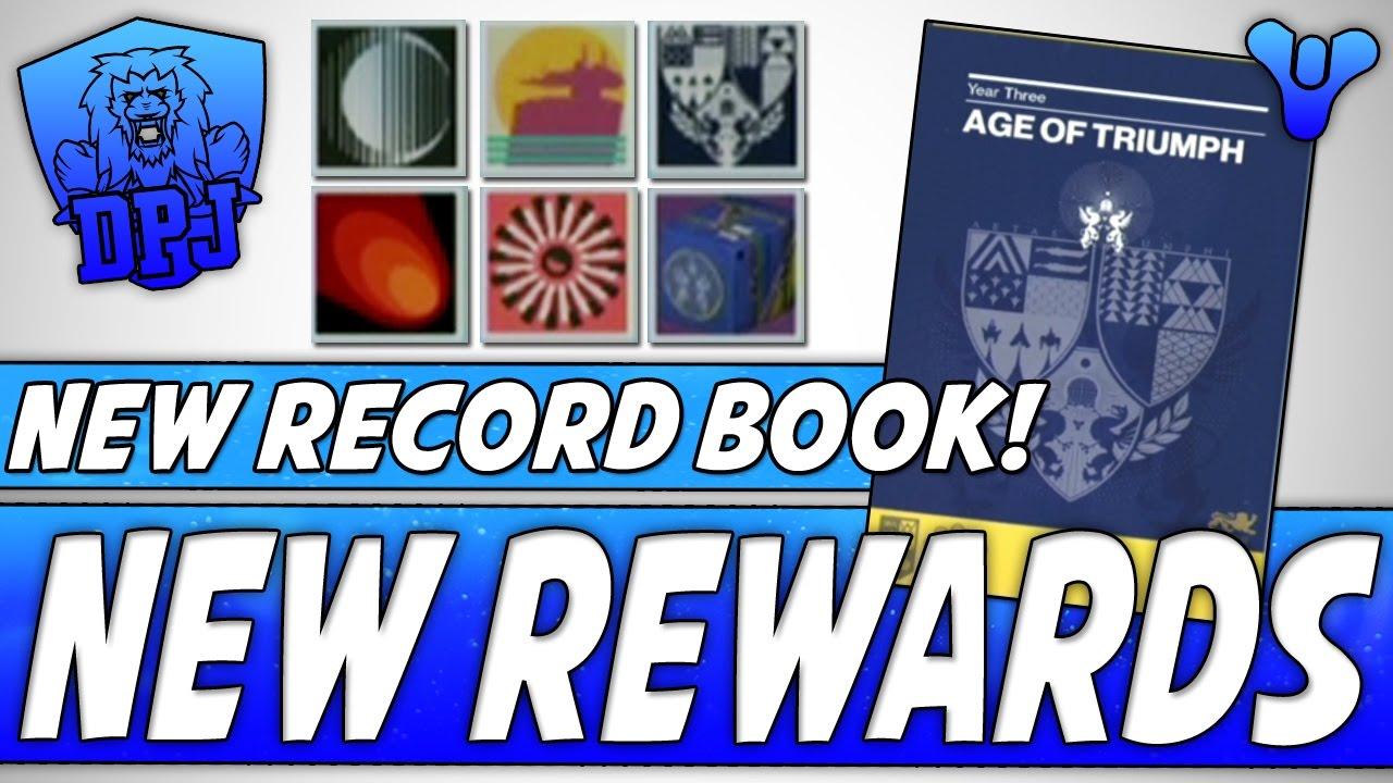 destiny: new record book - new rewards - age of triumph (all you