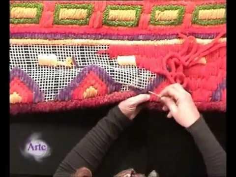 Borda un colorido pie de cama en ca amazo youtube for Cubrepies de cama