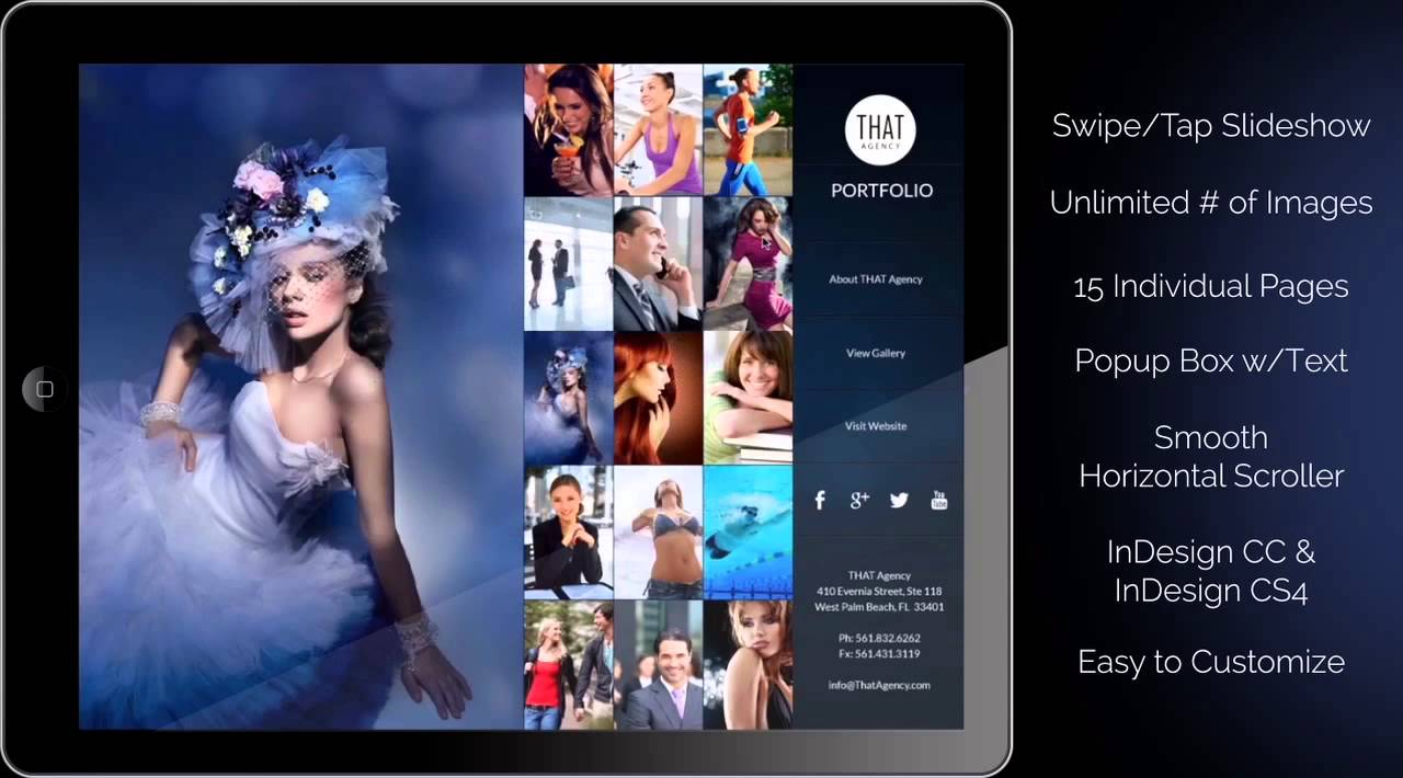 InDesign Photo Gallery Template Download for the iPad - YouTube