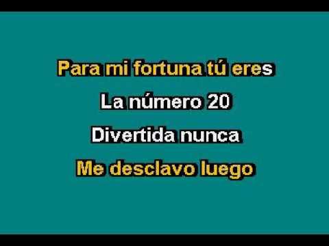 Sergio Vega   La Numero 20 Karaoke