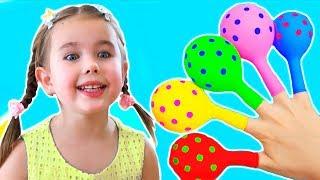 Head and Shoulders Song - Canción de Color Canción Bebé | Belajar Hewan liar untuk anak