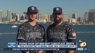 Padres show off new Navy camouflage jerseys