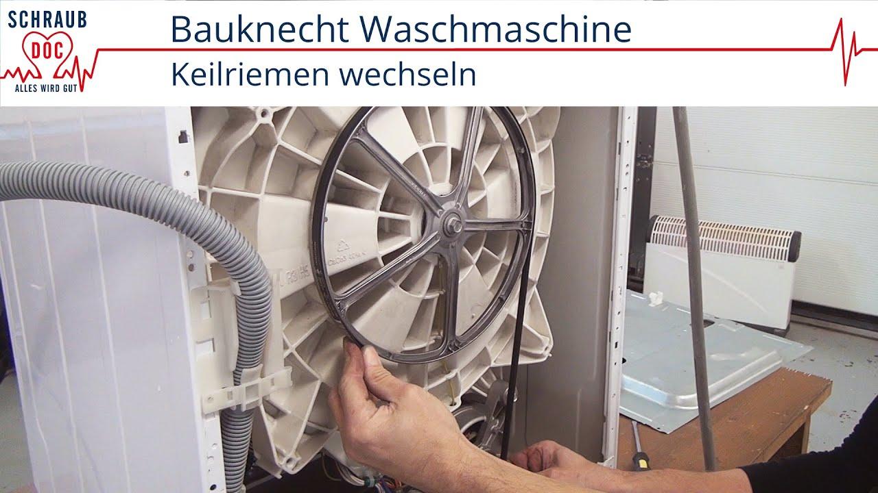 Bauknecht Waschmaschine Keilriemen Wechseln Youtube