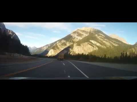 Driving on Trans-Canada Highway through the Rocky Mountains Part 2 (Banff-Glacier park)