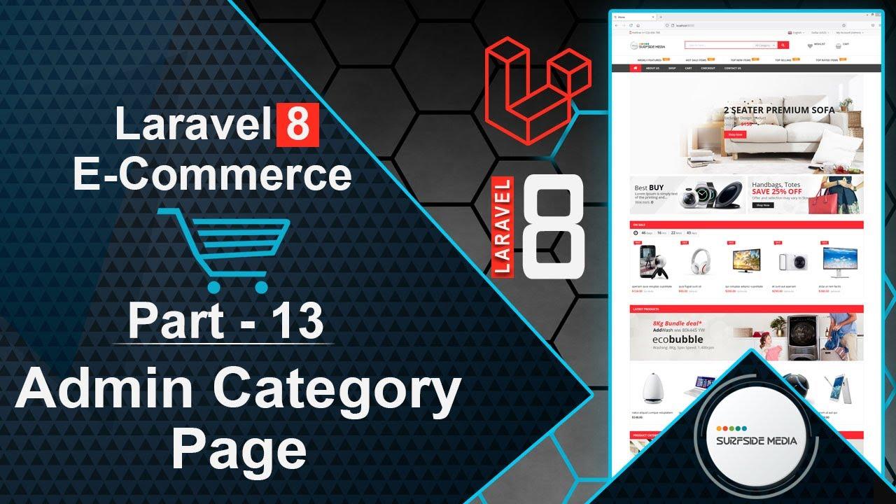 Laravel 8 E-Commerce - Admin Category Page