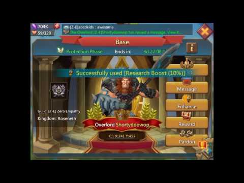 Lords Mobile: New Overlord And Base Benefits