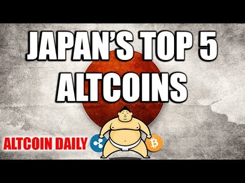 Top 5 Cryptocurrencies & Altcoins in Japan!