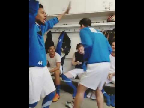 Footballers dancing with phyno