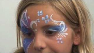 Half Buttefly: Face Painting Tutorial