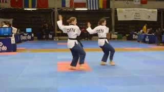 Belgien Open Poomsae 2015 finale Syncron Damer (18-30) Chil Jang