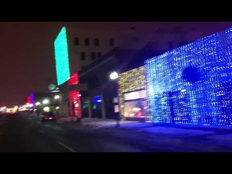Automobile Alley Christmas Lights - Broadway Avenue - Oklahoma City, OK