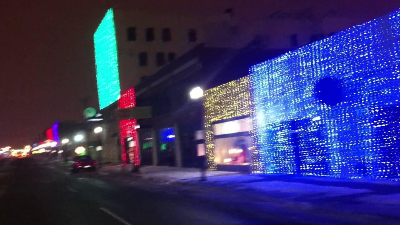 Automobile Alley Christmas Lights - Broadway Avenue - Oklahoma ...