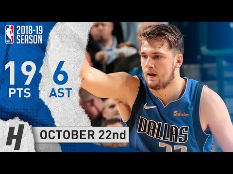 Luka Doncic Full Highlights Mavericks vs Bulls 2018.10.22 - 19 Pts, 6 Ast, CLUTCH!