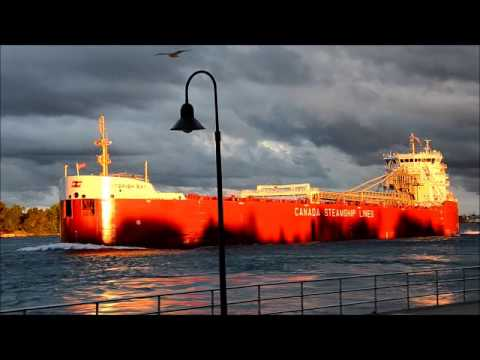 Whitefish Bay Maiden Voyage Upbound St  Clair River - Port Huron by Paul Murray