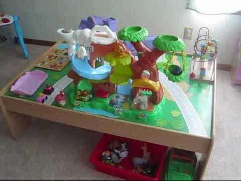 Toddler playroom station organization ideas train table for Playroom kitchen ideas