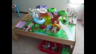 Toddler Playroom Station Organization Ideas - Train Table, Blocks, Kitchen, Books
