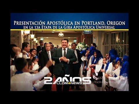 Presentación apostólica en Portland Oregon, en la 13a etapa de la Gira Universal.