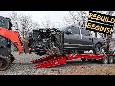 We Start Rebuilding A Wrecked Ford Raptor