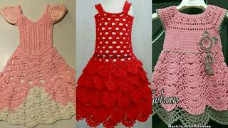 Amazing #Crochet+knitting baby girl dresses in Various pattern with Unique #ideas