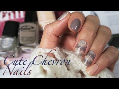 CUTE CHEVRON NAILS for winter - Katrin from Berlin Nails