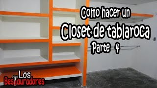 Como hacer Closet/Ropero de tablaroca Parte 4.- Juntas, Pasta y Acabado