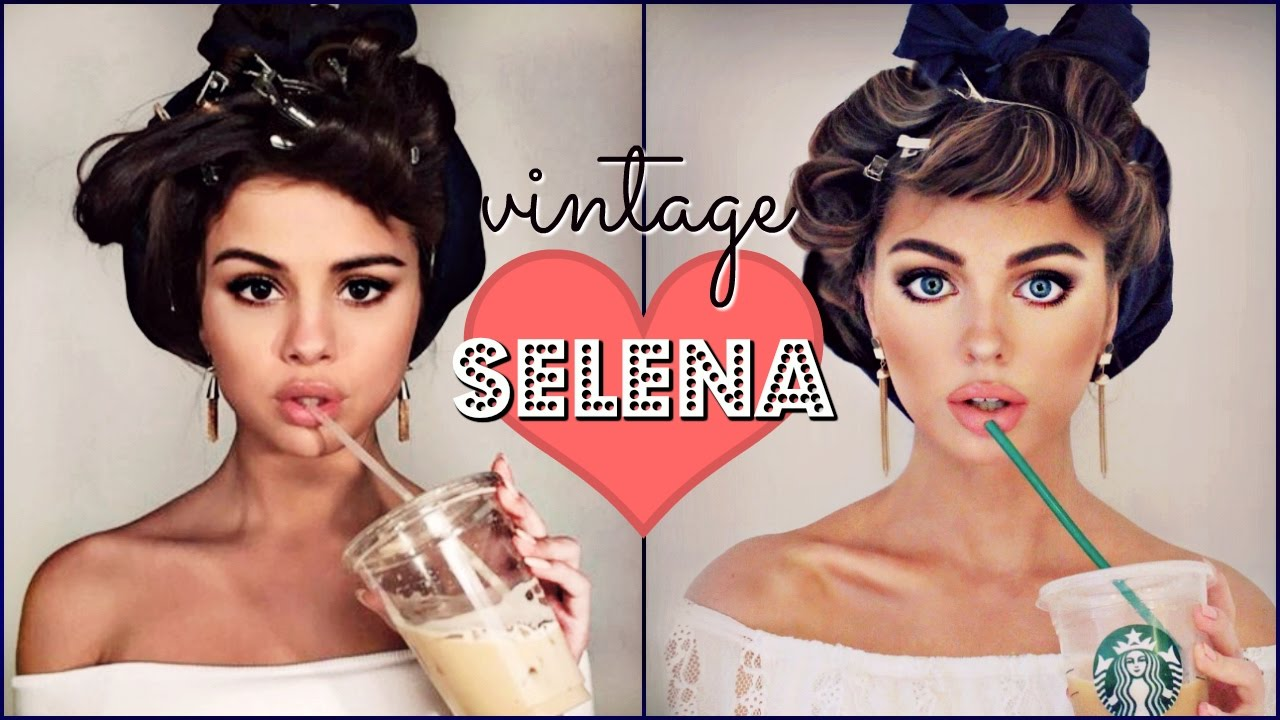 Selena Gomez Makeup Tutorial Bouncy Curls Vintage