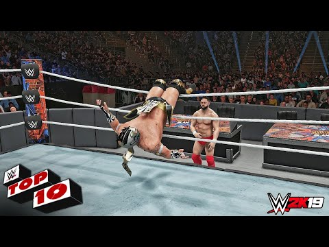 WWE 2K19 - Top 10 *NEW* High Flying Moves! (DLC Pack)