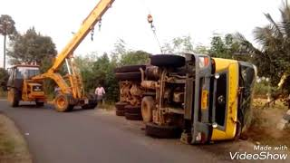 Truck Accident Recovery By Crane