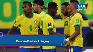 Brasil vs Uruguay (4 - 1): resumen del partido – Eliminatorias Sudamericanas
