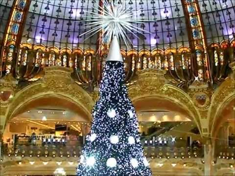 Paris no l 2012 magasin printemps haussmann chanel christian dior animat - Magasin deco noel paris ...