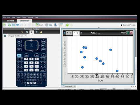 Finding Linear Regression Equation and Making Predictions TI-Nspire