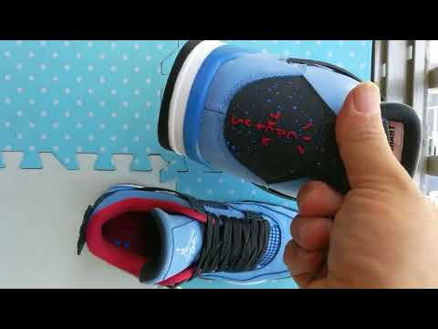 74ee5e84a16 Nike Air Jordan 4 x Travis Scott Cactus Jack PK God legit check review fake  VS real on feet