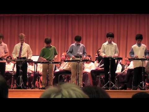 H's 5th Grade Band Percussion Section/ Bells Performance Jingle Bell Rock