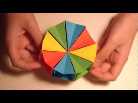 how to make an origami magic circle youtube