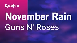 Video Karaoke November Rain - Guns N' Roses * download MP3, 3GP, MP4, WEBM, AVI, FLV Februari 2018