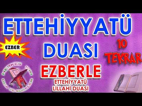 Ettehiyyatü duası ezberle Çocuklar için Ettehiyyatü ezberleme 10 tekrar