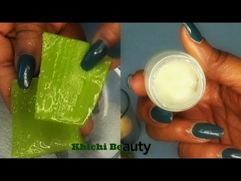 Aloe Vera Anti-aging Eye Gel, DIY Aloe Vera Wrinkles+Dark Circles Remover, Fine Lines |Khichi Beauty