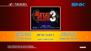 Metal Slug 3 (Switch) Review (Video Game Video Review)