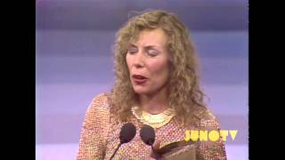 Pierre Trudeau Inducts Joni Mitchell into The Canadian Music Hall of Fame (1981) | JUNO TV
