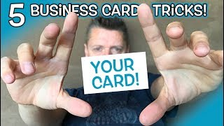 5 Easy Magic TRICKS with BUSINESS CARD!! **Amaze People!**