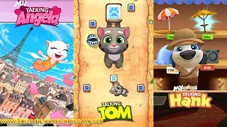 My Talking Hank vs My Talking Tom vs My Talking Angela - Gameplay For Children HD