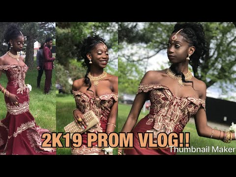 2k19 PROM VLOG AND GRWM!!  AFRICAN DRESS 
