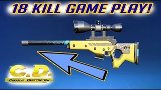 THE BEST SNIPER OF THE GAME!! 18 KILLS! (Creative Destruction)