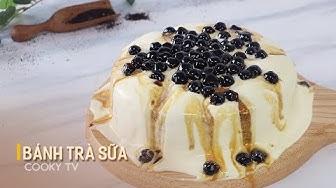 Cách Làm Bánh Trà Sữa Trân Châu Đường Đen Siêu Hot - Boba Milk Tea Cake - Cooky TV